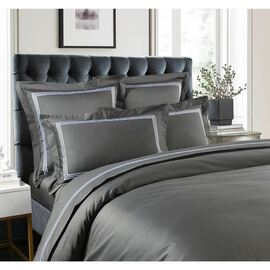 1000 Thread Count Charcoal Standard Pillow Case (PAIR)