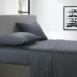 400 Thread Count Sheet set Charcoal King Bed