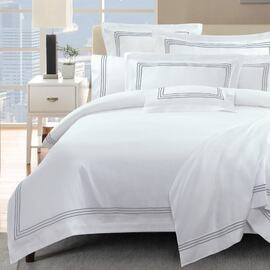 1000 Thread Count Silver Queen Bed Quilt Cover Set