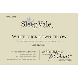 Duck Down King Size Pillow