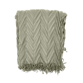 Herribone Throw Silver