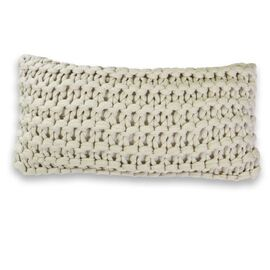 Meridian Chunky Oblong Cushion Beige