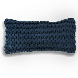 Meridian Chunky Oblong Cushion Blue (navy)