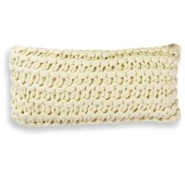Meridian Chunky Oblong Cushion Linen (cream)