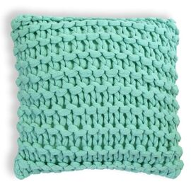 Meridian Chunky Square Cushion Aqua