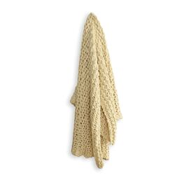 Meridian Chunky Throw Linen (cream)
