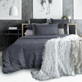 Oxford Charcoal Waffle Quilt Cover Set