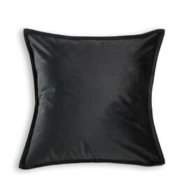 Velvet European Pillowcase Black