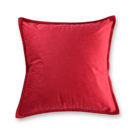 Velvet European Pillowcase Red