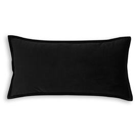 Velvet Cushion Oblong Black