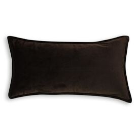 Velvet Cushion Oblong Chocolate
