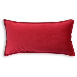 Velvet Cushion Oblong Red