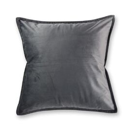Velvet Cushion Square Charcoal