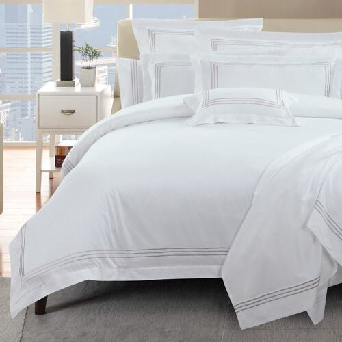 1000 Thread Count Linen Quilt Cover Set Queen King Super King