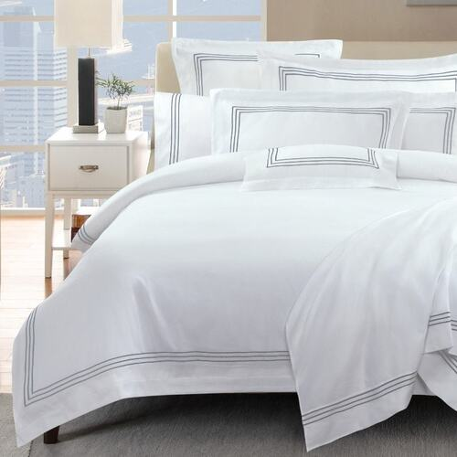 1000 Thread Count Silver Quilt Cover Set Queen King Super King