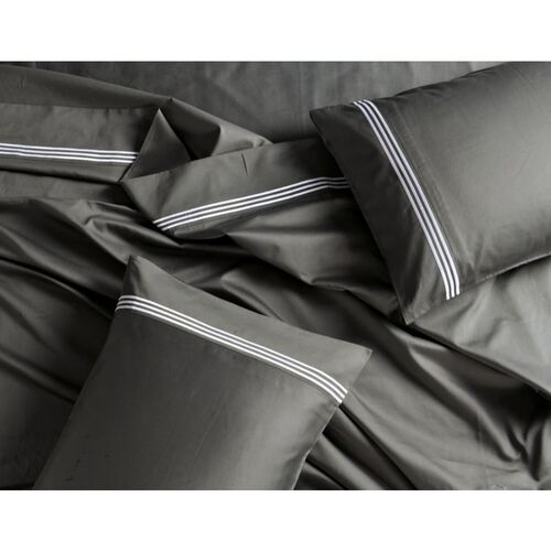 1000 Thread Count Charcoal Sheet Set Super King Bed