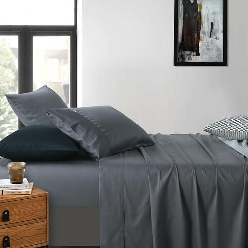 400 Thread Count Sheet set Charcoal Single King Single Double Queen King