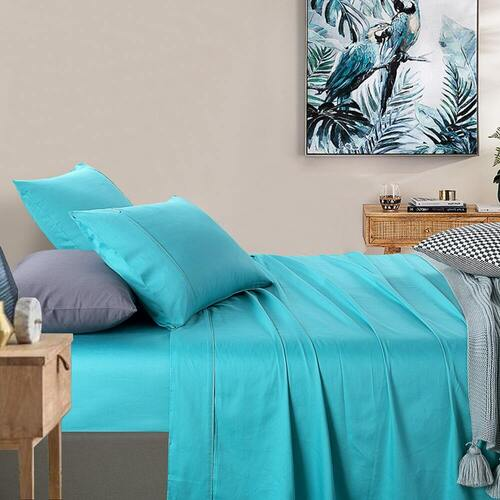 400 Thread Count Sheet set Teal King Bed