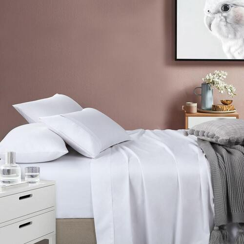 400 Thread Count Sheet set White Single King Single Double Queen King