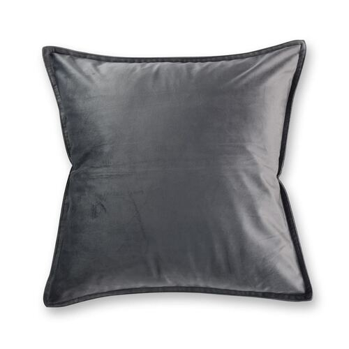 Velvet European Pillowcase Charcoal
