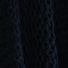 Meridian Chunky Throw Blue (navy)