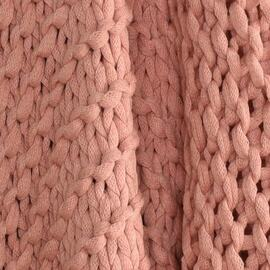 Meridian Chunky Throw Blush (pink)