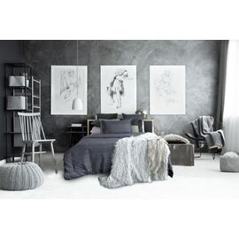 Oxford Charcoal Waffle Oblong Cushion
