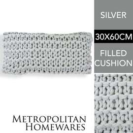 Meridian Chunky Oblong Cushion Silver
