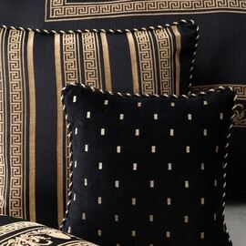 Massimo Black Quilt Cover Set Oblong Cushion