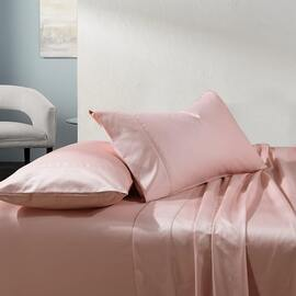 1000TC Cotton Sheet Set Blush Mega Super King Bed