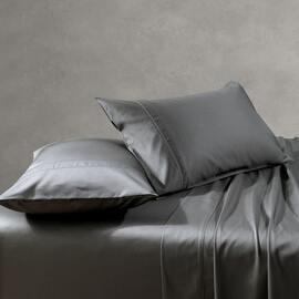 1000TC Cotton Sheet Set Charcoal Super Queen Bed