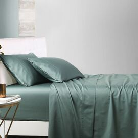 1000TC Cotton Sheet Set Forest Green Super King Bed