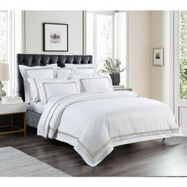 1000 Thread Count Mocha Quilt Cover Set Oblong Cushion