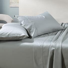 1000TC Cotton Sheet Set Silver Super Queen Bed