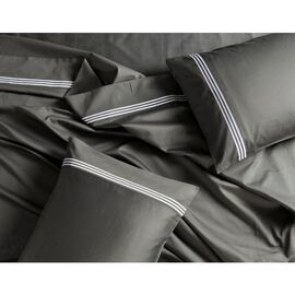 1000 TC Embroidered Charcoal Sheet Set