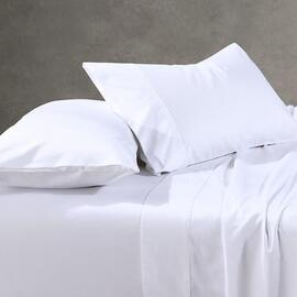 1000TC Cotton Sheet Set White Mega Super King Bed