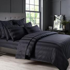 Bespoke 1200TC Sheet Set Black King Bed