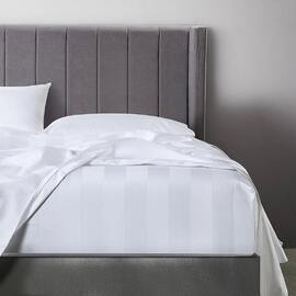 Bespoke 1200TC Fitted Sheet White Super Queen Bed