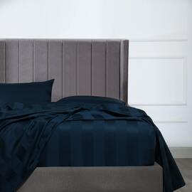 Bespoke 1200TC Fitted Sheet Navy King Bed