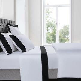 Plaza Black Sheet Set Super King Bed