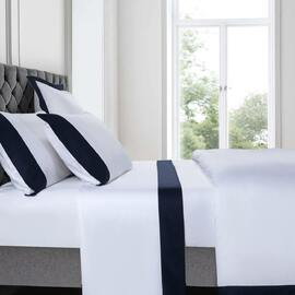 Plaza Navy Sheet Set Super Queen Bed