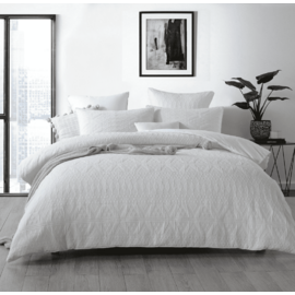 Mia White Quilt Cover Set