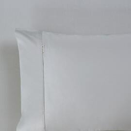 King Size Pillow Case - 400 Thread Count Silver