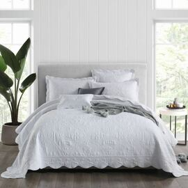 Medici White Bedspread Double Bed