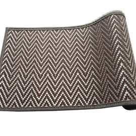 Chevron Bamboo Runner & Placemat Brown/Silver