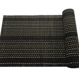 Esme Bamboo Runner & Placemat Black