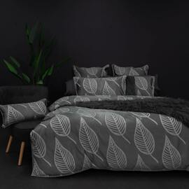 Jaxon Quilt Cover Set Charcoal