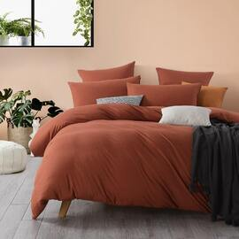 Jersey European Pillowcase Rust