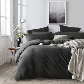 Jersey Quilt Cover Set Charcoal