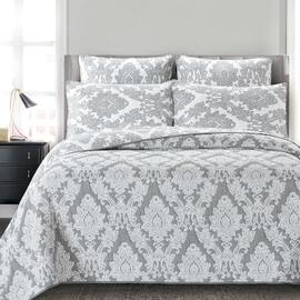 Julian Grey Bedspread Queen Bed